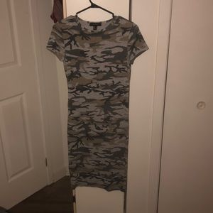 Fitted camo dress